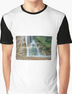 Base of Salino Waterfall 1 Graphic T-Shirt