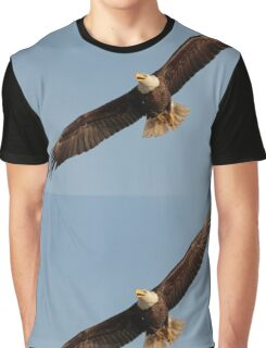 Bald Eagle in Flight Graphic T-Shirt