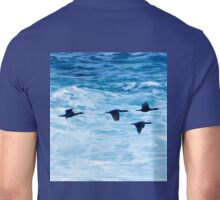 Cormorants  Skimming the Waves off Inishmore Unisex T-Shirt