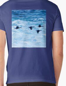 Cormorants  Skimming the Waves off Inishmore Mens V-Neck T-Shirt