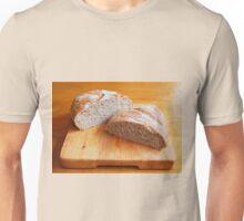 Sourdough on Wooden Chopping Board Unisex T-Shirt
