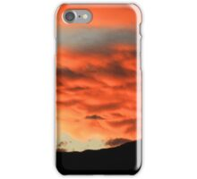 Red Sunset Over the Mountains iPhone Case/Skin