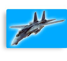 American, Grumman, F-14, Tomcat, supersonic, twin-engine, two-seat, variable-sweep wing, fighter aircraft.  Canvas Print