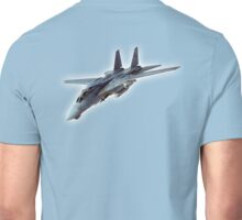 Tomcat, Jet, American, Grumman, F-14, supersonic, twin-engine, two-seat, variable-sweep wing, fighter aircraft.  Unisex T-Shirt