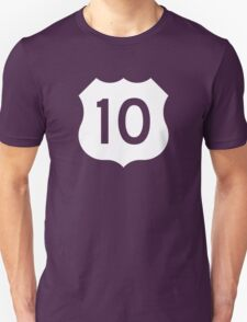 US Route 10 Sign - Contrast Version T-Shirt
