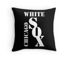 Chicago White Sox Typography Throw Pillow