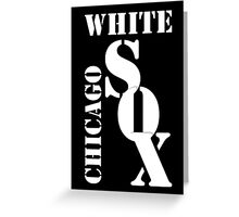 Chicago White Sox Typography Greeting Card