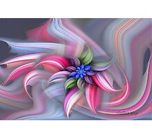 Swirling abstract flower Photographic Print
