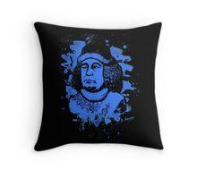 Oswald von Wolkenstein - blue bleached Throw Pillow