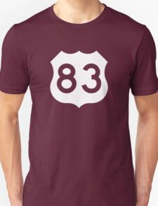 US Route 83 Sign - Contrast Version T-Shirt