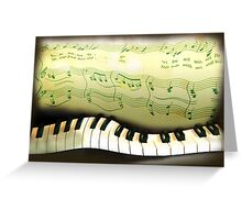 warped piano, a musical joke Greeting Card