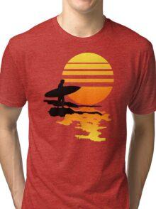 Surfing Sunrise Tri-blend T-Shirt