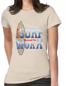 Born To Surf Womens Fitted T-Shirt