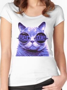 Solo Purple Cat 4 Bernie Women's Fitted Scoop T-Shirt