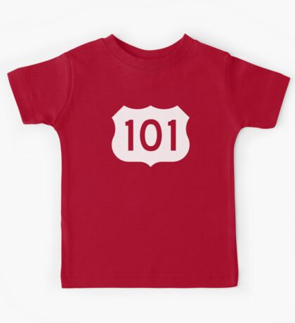 US Route 101 Sign - Contrast Version Kids Tee