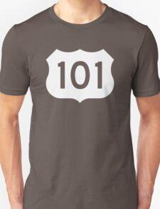 US Route 101 Sign - Contrast Version Unisex T-Shirt