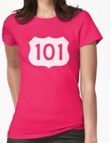 US Route 101 Sign - Contrast Version Womens Fitted T-Shirt