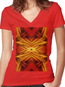 XVI - The Tower Women's Fitted V-Neck T-Shirt