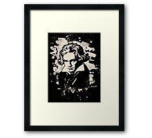 Ludwig Van Beethoven Tribute (creme white) Framed Print