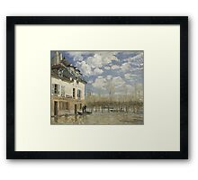 Alfred Sisley - Boat in the Flood at Port Marly 1876  Impressionism  Landscape  Framed Print