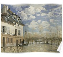 Alfred Sisley - Boat in the Flood at Port Marly 1876 Poster