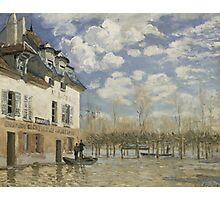 Alfred Sisley - Boat in the Flood at Port Marly 1876  Impressionism  Landscape  Photographic Print