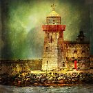 Lighthouse with stormy weather by Luisa Fumi