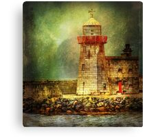 Lighthouse with stormy weather Canvas Print
