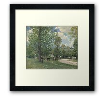 Alfred Sisley - Cows in Pasture, Louveciennes 1874  Impressionism  Landscape  Framed Print