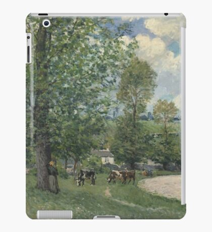 Alfred Sisley - Cows in Pasture, Louveciennes 1874  Impressionism  Landscape  iPad Case/Skin