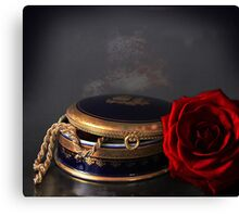 still life with red rose Canvas Print