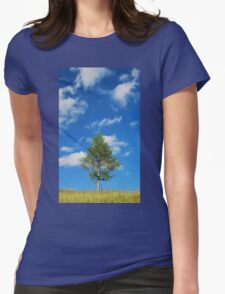 Tree with Cumulus Fractus Womens Fitted T-Shirt