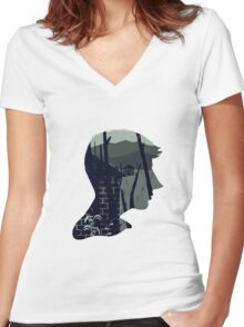 A Rural Ideal Women's Fitted V-Neck T-Shirt