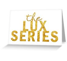 Gold Lux Greeting Card