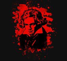 Ludwig Van Beethoven Tribute (red) Unisex T-Shirt