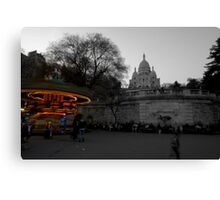 Montmartre Spin Canvas Print