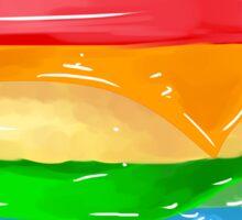 The Rainbow Burger  Sticker