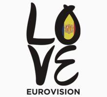 Love Eurovision [Andorra] Kids Tee