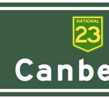 Canberra, Road Sign, Australia Sticker