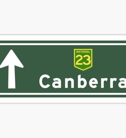 Canberra, Road Sign, Australia Sticker