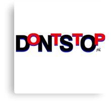 DontStop Design - Red Canvas Print