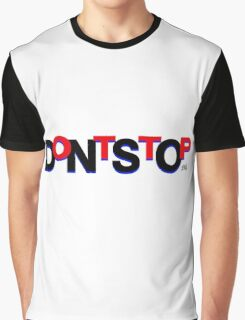 DontStop Design - Red Graphic T-Shirt