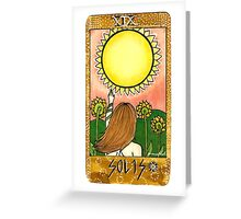 Sun Tarot Card Greeting Card