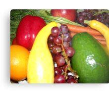 Fruit and Veggies Metal Print