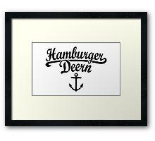 Hamburger Deern Classic Anker (Schwarz) Framed Print