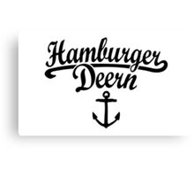 Hamburger Deern Classic Anker (Schwarz) Canvas Print