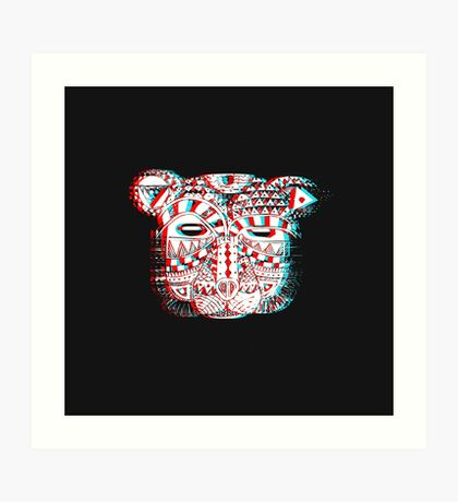 Spirit Bear 3D Art Print