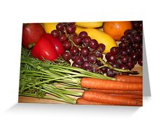 Carrots Pepper Banana and Orange Greeting Card