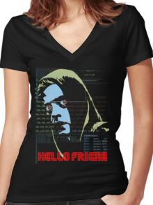 Hello Friend Women's Fitted V-Neck T-Shirt