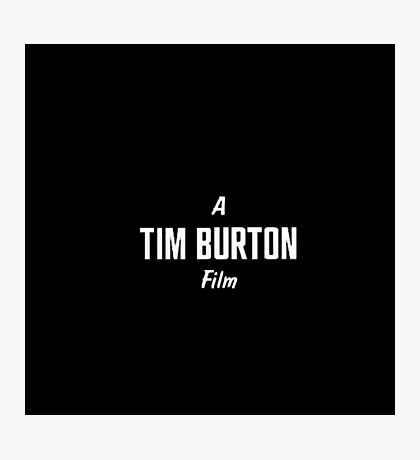 Tim Burton. Photographic Print